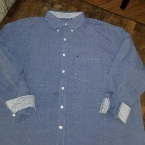 Izod chambray color dress shirt